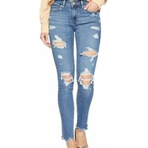 Levi 711 Skinny Distressed Jeans sz 25